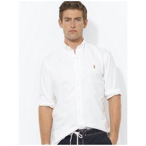 Ralph Lauren Boys White Oxford Dress Shirt 12